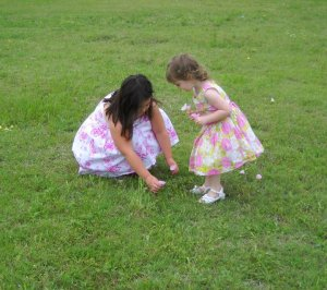 Sassyfrass & Sweetpea last Easter, taken by my niece.