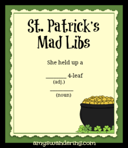 st patricks mad libs
