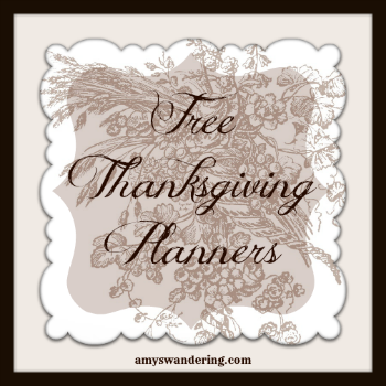 free thanksgiving planners