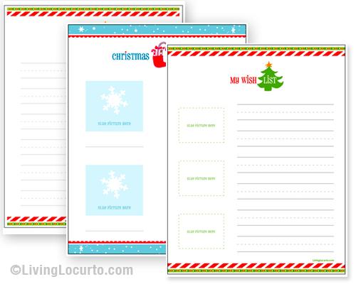 Printable Christmas Wish Lists - Amy's Wandering