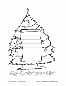 Printable Christmas Wish Lists