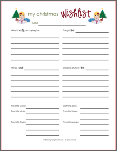 Printable Christmas Wish List For Adults.Printable Christmas Wish Lists Amy S Wandering