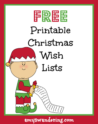 Printable Christmas Wish Lists Are We There Yet