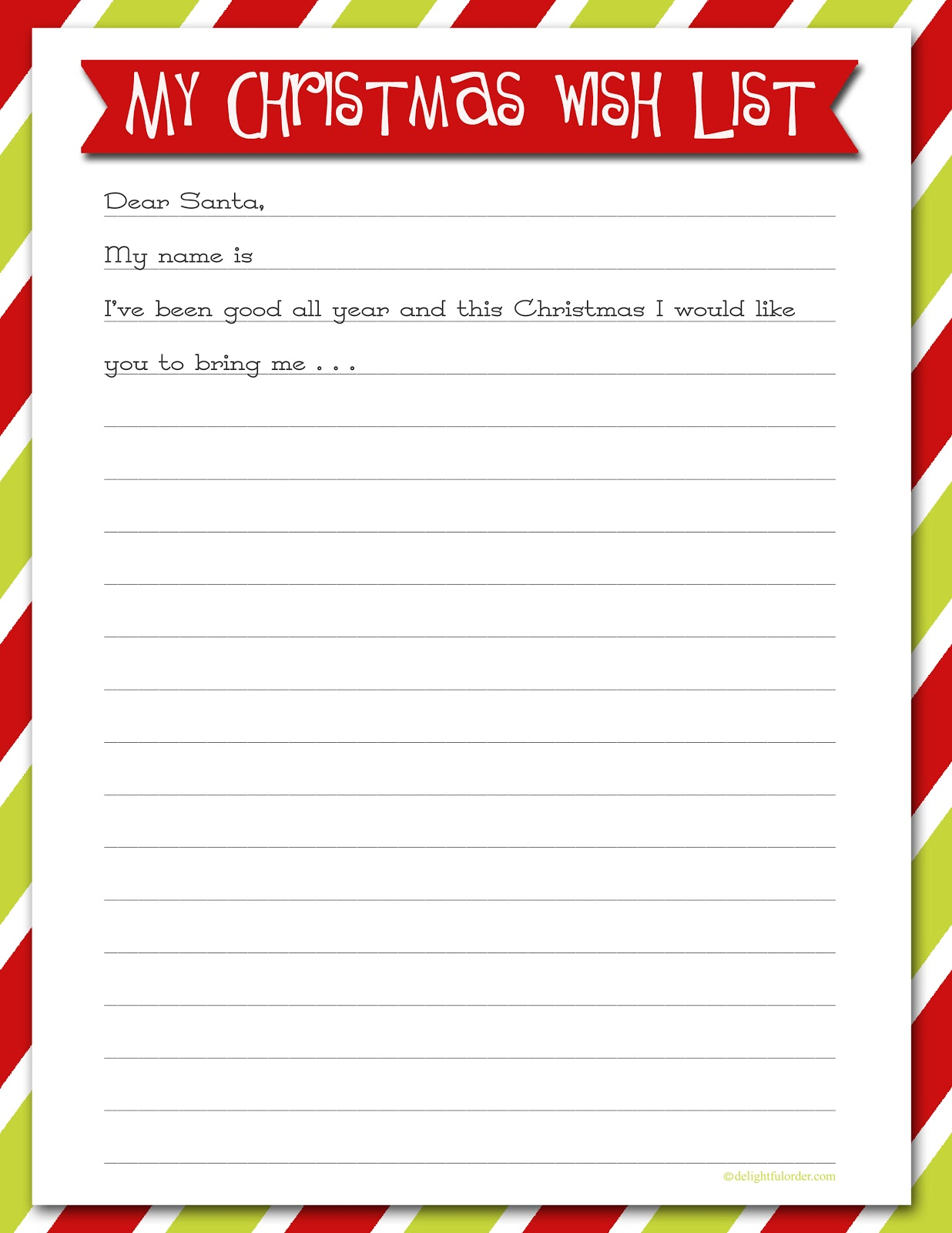 graphic about Santa Wish List Printable known as Printable Xmas Need Lists - Amys Wandering