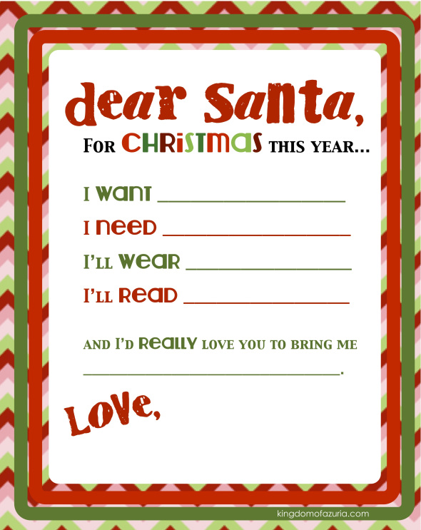 Printable Christmas Wish Lists - Are We There Yet?