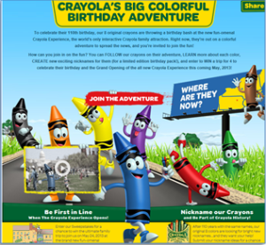 crayola birthday