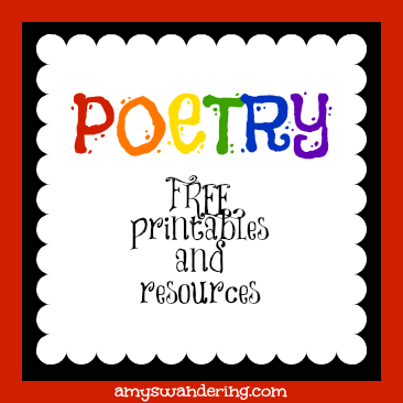 free poetry printables and resources are we there yet. Black Bedroom Furniture Sets. Home Design Ideas