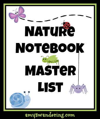 nature notebook master list