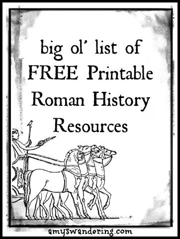 Roman History Printable Resources Are We There Yet