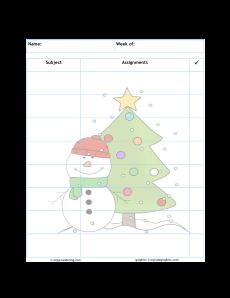 Snowman tree1