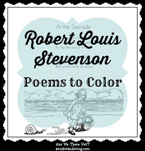 Robert Louis Stevenson Poems to Color