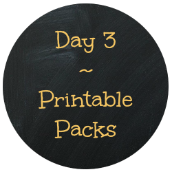 Day 3 Printable Packs