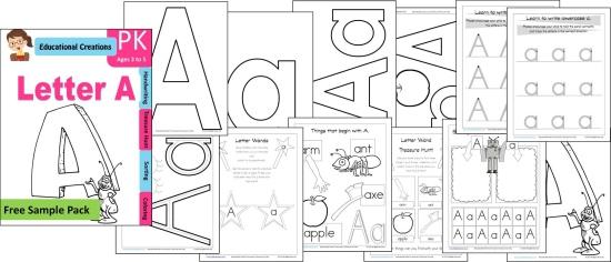 FREE Alphabet Resources for Preschoolers - Amy's Wandering