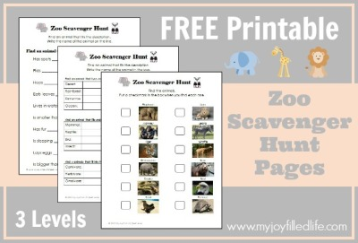 Zoo-scavenger-hunt
