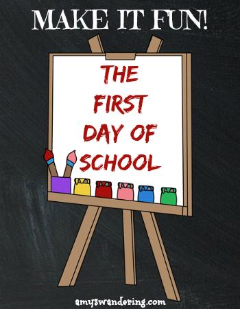 First Day of School Fun