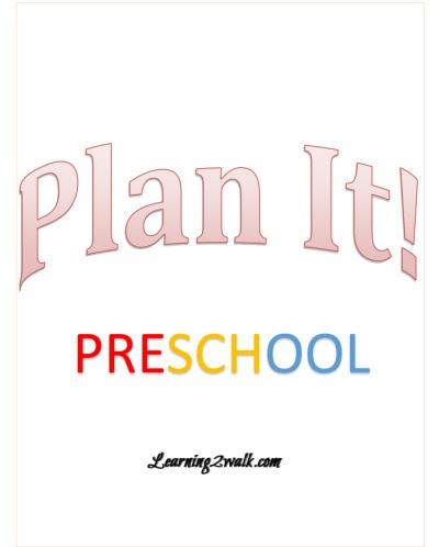 preschool plan it