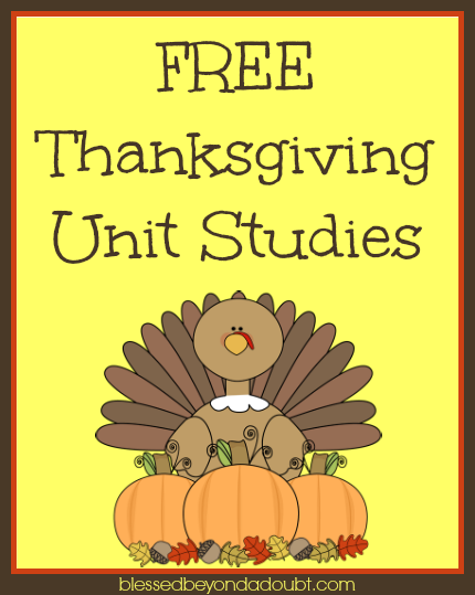 Free Thanksgiving Unit Studies