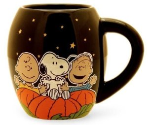 peanuts great pumpkin mug