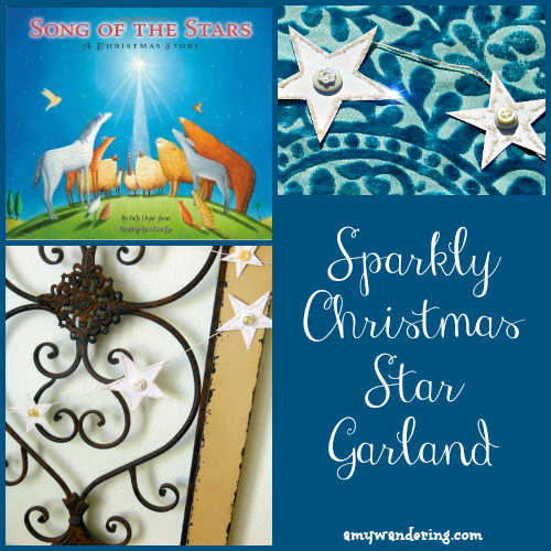 Sparkly Christmas Star Garland