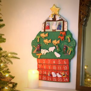 nativity advent wall calendar