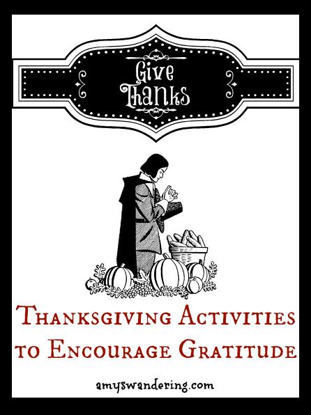 Thanksgiving Activities to Encourage Gratititude