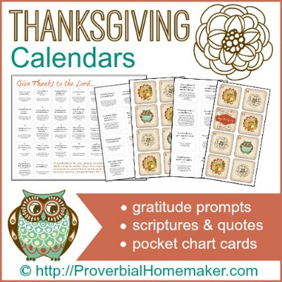 Thanksgiving-Calendars